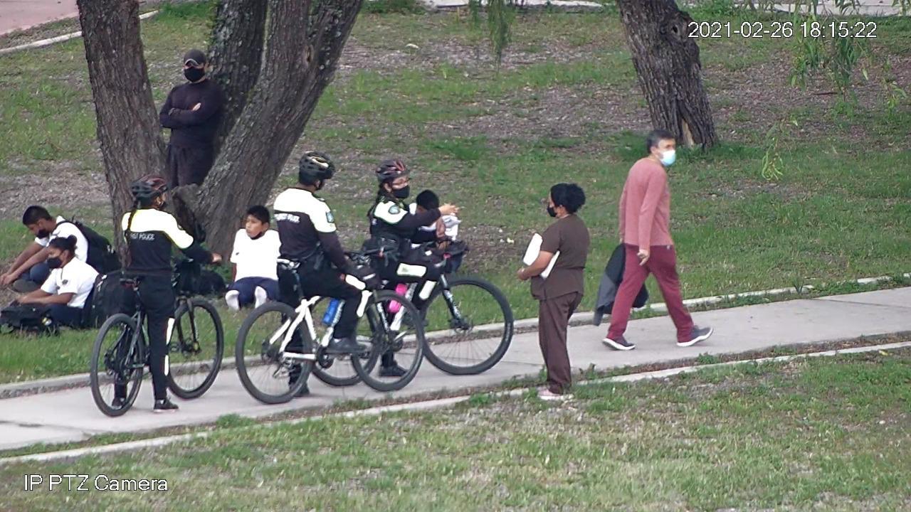 Parque Xibi Xibi alumnos de la Academia San Martín rompió caños 002