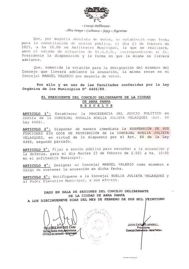 resolución CD ABRA PAMPA